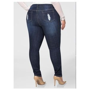 Ashley Stewart Distressed Skinny Jeans